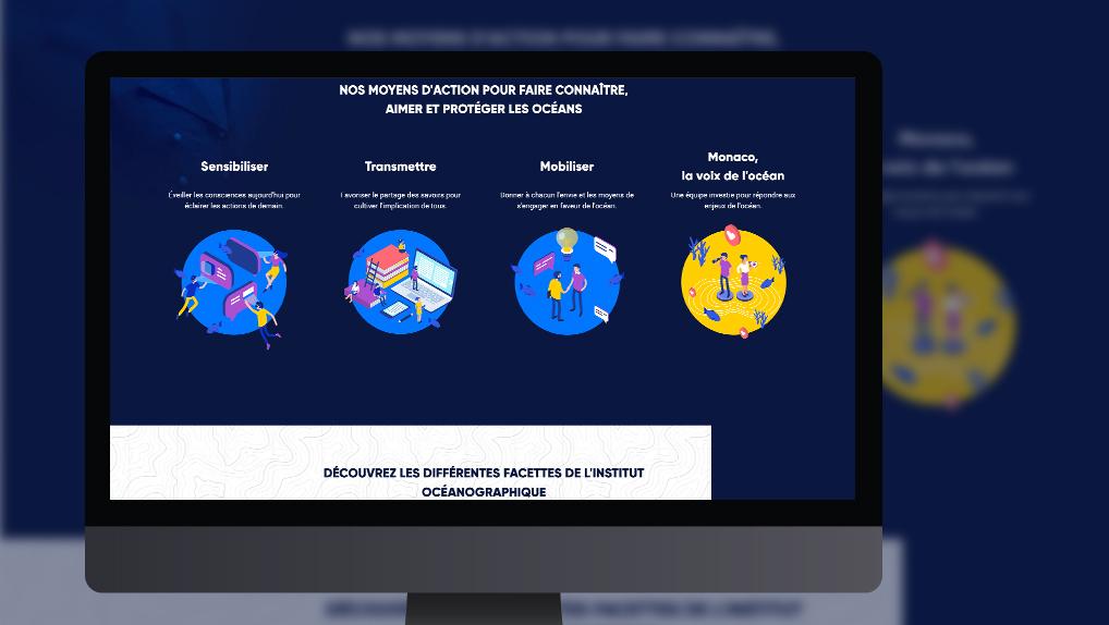 site web institut océanographique - Pix Associates