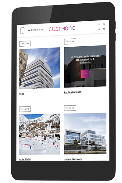 Mockup mobile Cust'home - Pix Associates