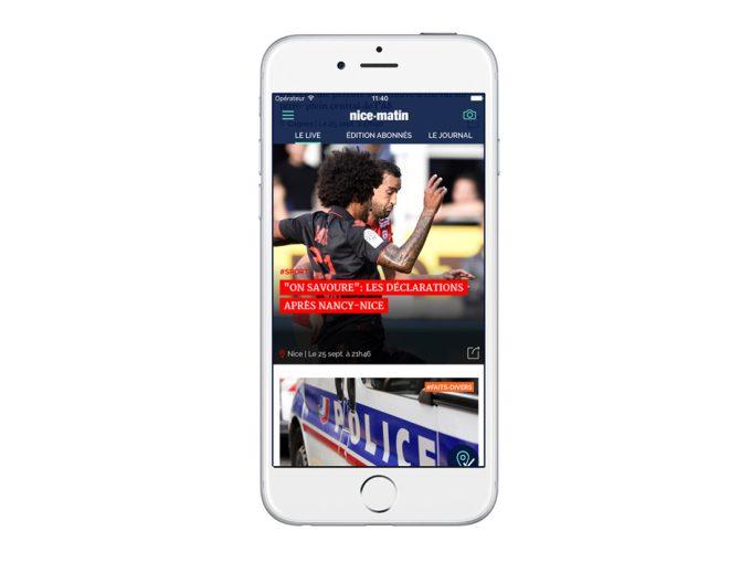 La Noosphère (filiale de Pix Associates) lance l'application de Nice-Matin